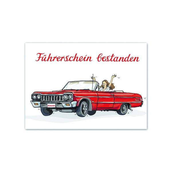 KRIMA Postkarte Führerschein