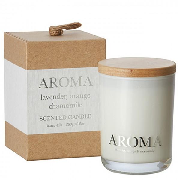 Kerze Aroma lavender, orange & camomile M