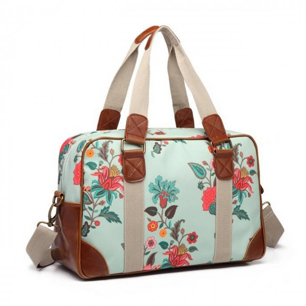 Travelbag Canvas Botanical Duck egg