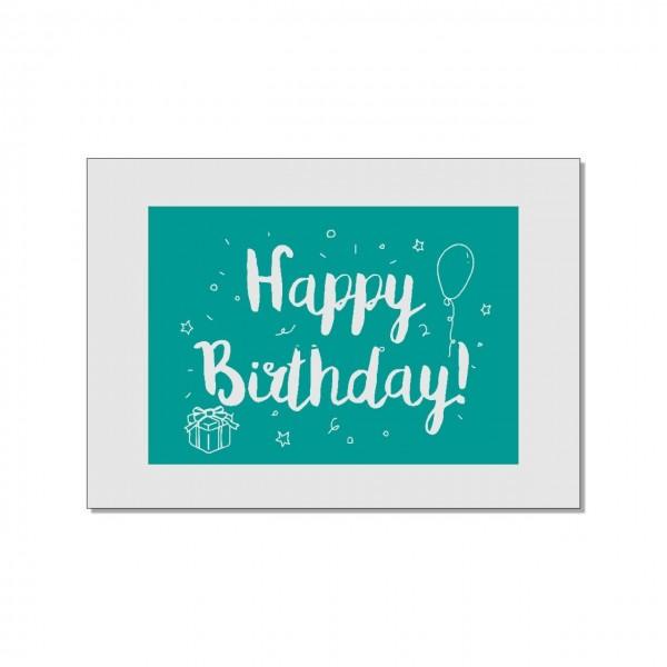 Postkarte quer, Happy Birthday
