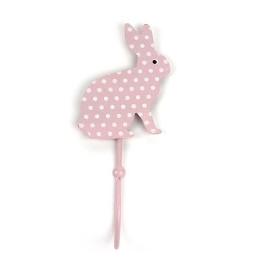 Garderobenhaken Hase, rosé gepunktet