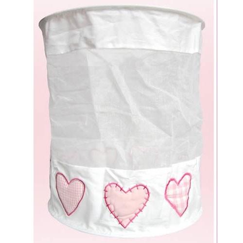 Lampenschirm weiß Herzen rosa