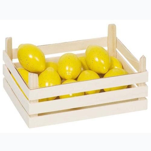 Kaufladen Holz Zitronen