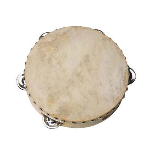 Tamburin natur mit Schellen