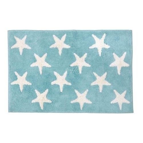 Badematte Sterne Hellblau
