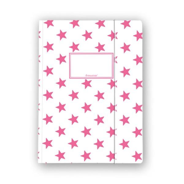 KRIMA Sammelmappe Sterne pink A4
