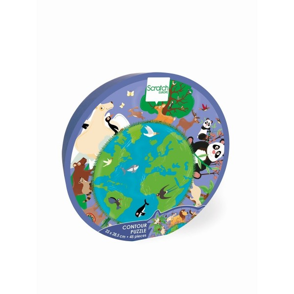 Mini Shape Puzzle Welt 45 Teile