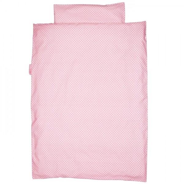 Bettwäsche Punkte rosa