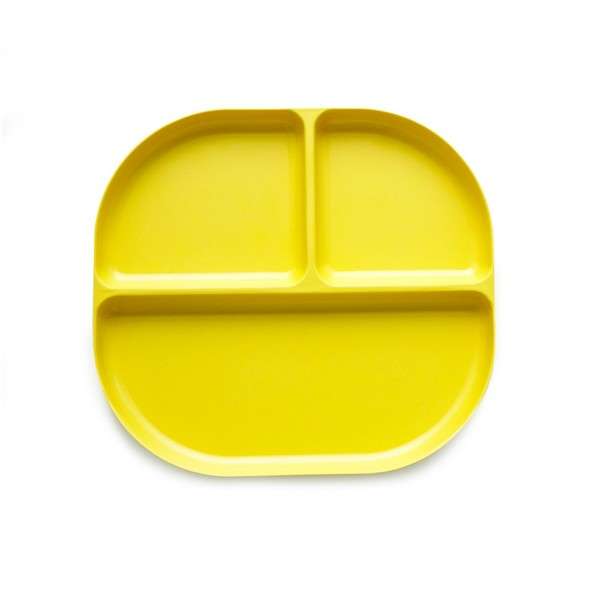 Biobu Bambino Unterteilter Teller, lemon