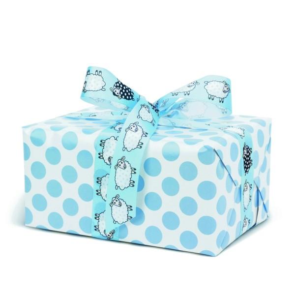 Geschenkpapier Punkte Blau