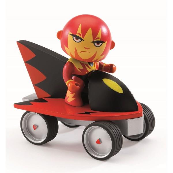 Superheld Firebird mit Jet