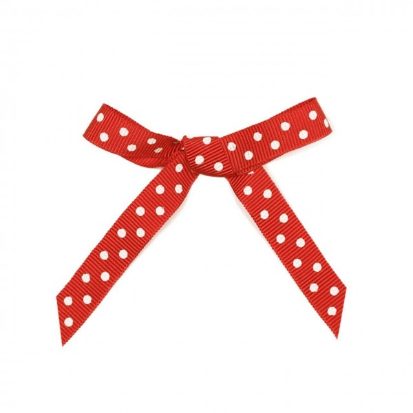 Schleife Punkte Rot