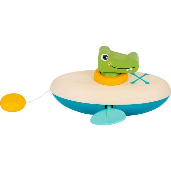 Wasserspielzeug Aufzieh-Kanu Krokodil