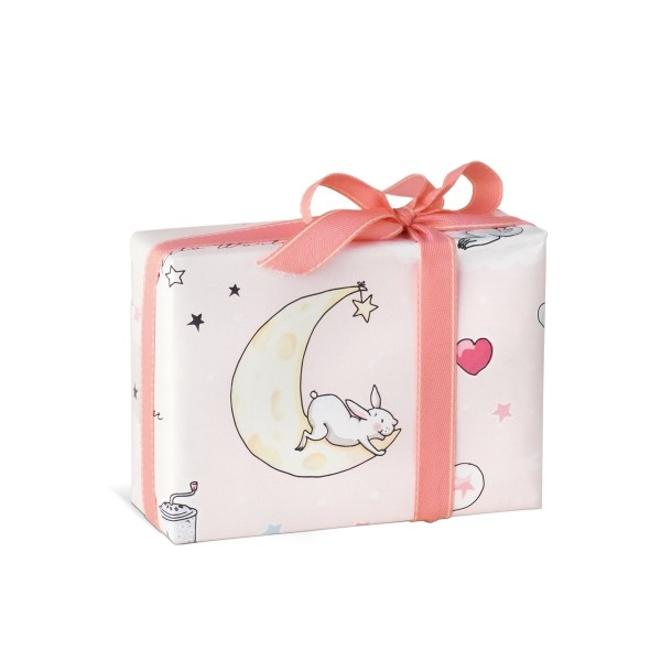 KRIMA Geschenkpapier Babytiere Rosa