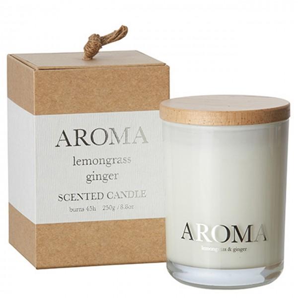 Kerze Aroma lemongrass & ginger M