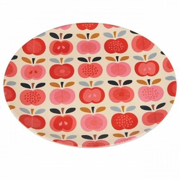 Vintage Apfel Melaminteller