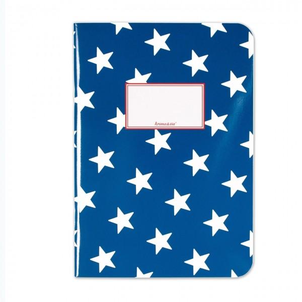 Notizheft Sterne Blau DIN A5