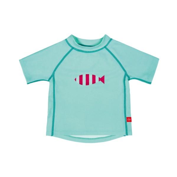 Kurzarm Bade T-Shirt Unisex, 12 Monate, aqua