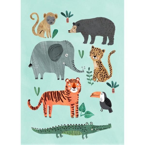 Poster wilde Tiere