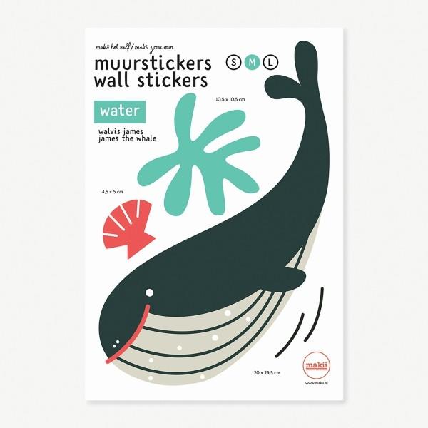 Wandsticker James der Wal