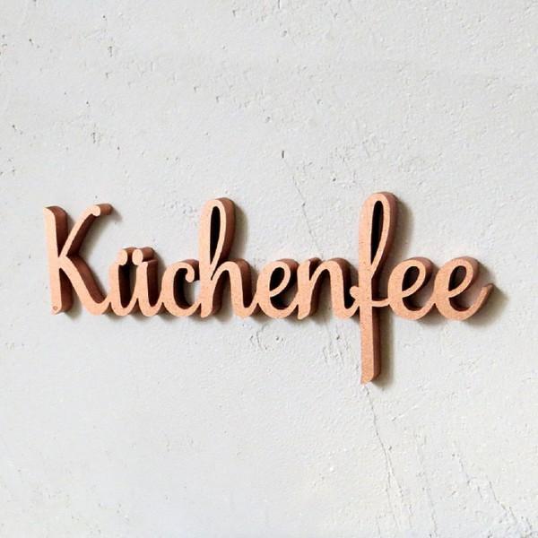 Küchenfee silber 3D Typograph