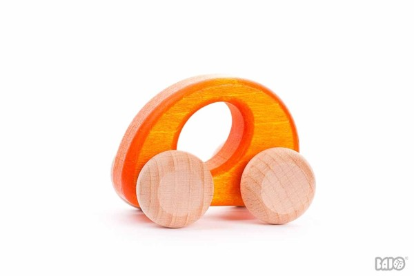 Holzauto Elipse klein Orange