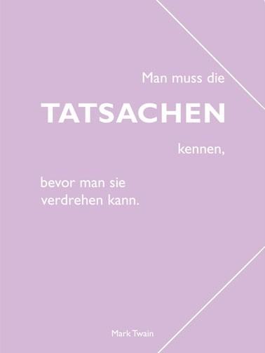 "CEDON Sammelmappe, pastell flieder, Twain ""Tatsachen"""