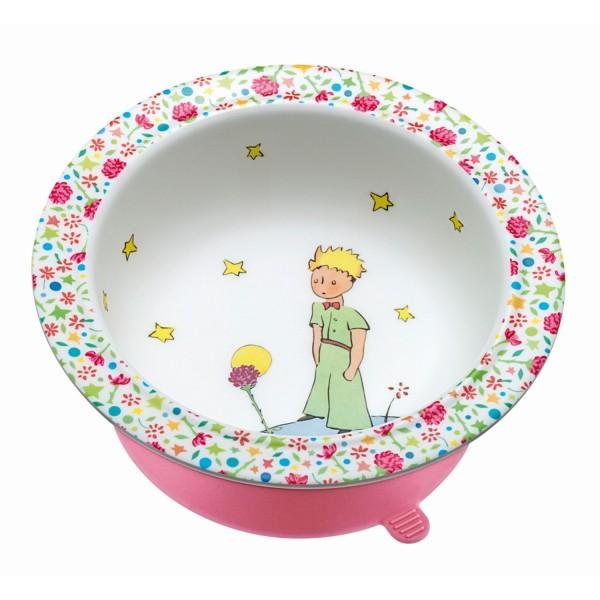Schale mit Saugboden rosa Der kleine Prinz