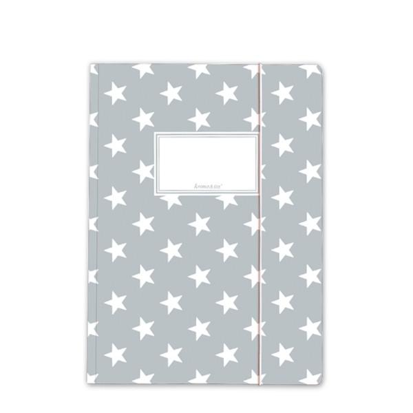 Sammelmappe Sterne grau A4