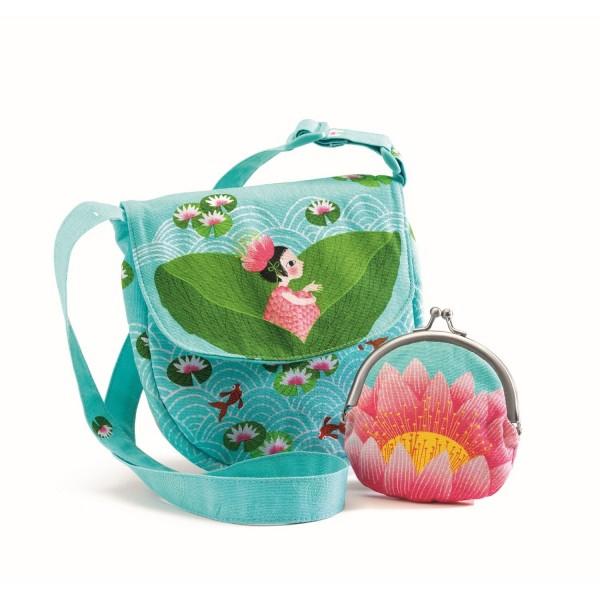 Tasche: Wasserlilie mit Geldbörse