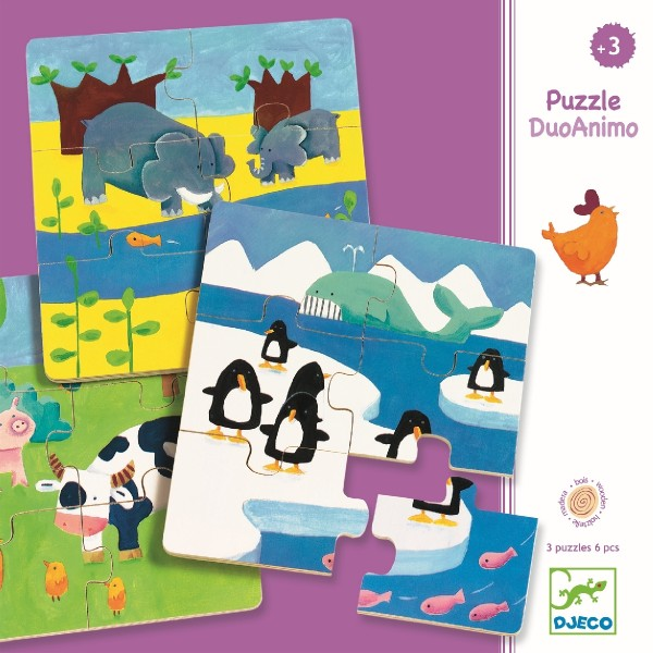 Holz-puzzle - Animals & Co