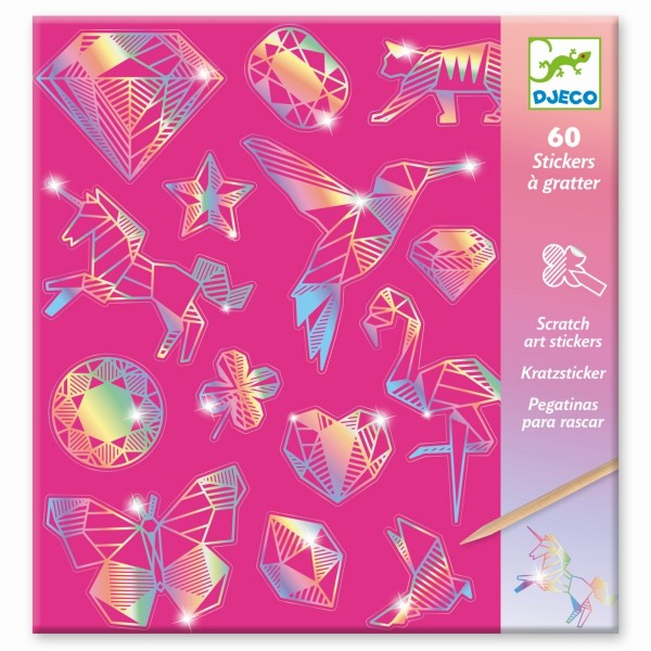 Kratzbild Sticker Diamant