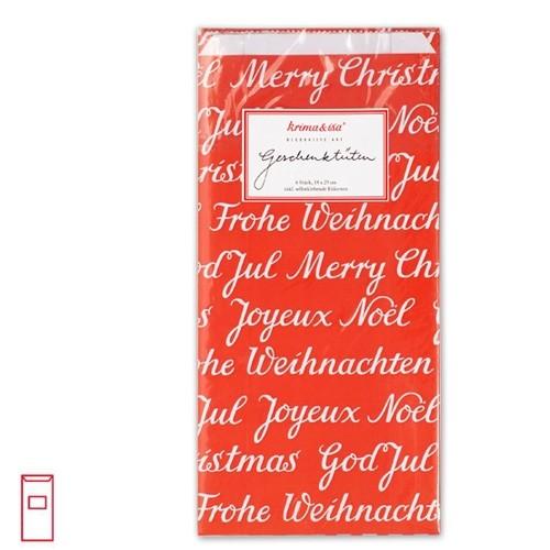 KRIMA Tüten Weihnachten rot