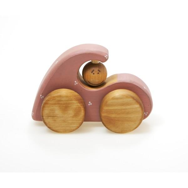 Holzspielzeug rosa Holzauto