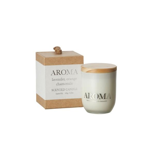 Aroma Duftkerze lavender, orange & camomile S