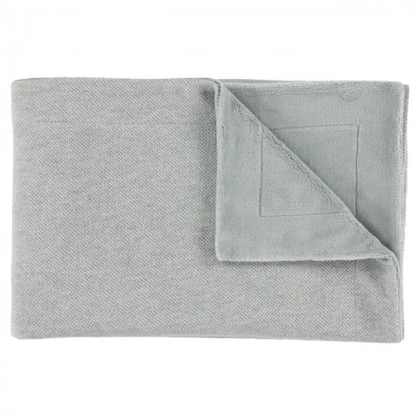 Fleece-Decke grau
