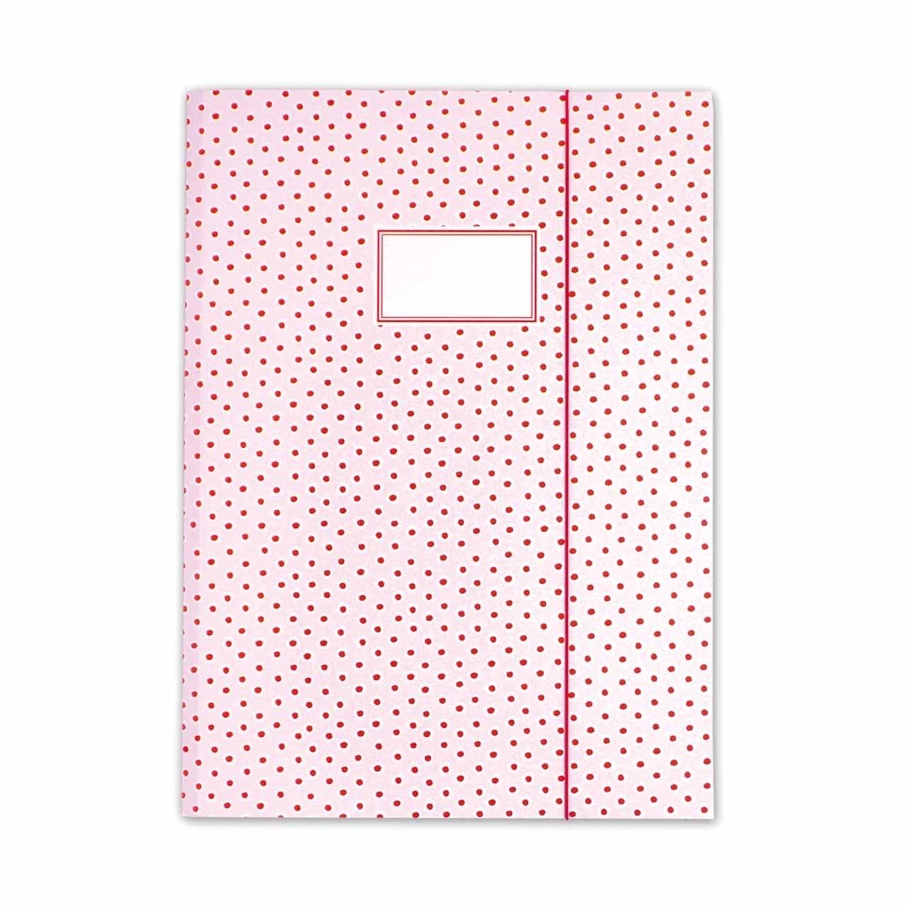Sammelmappe Tupfen Rosa A3 | KrimaundIsa Notizhefte & Mappen ...