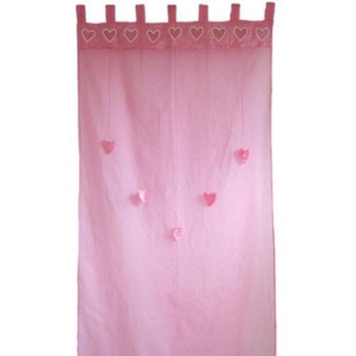 Gardinen Herzen rosa