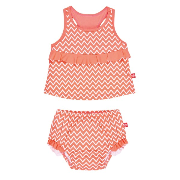 Tankini Set girls assorted, 12 Monate, zigzag peach