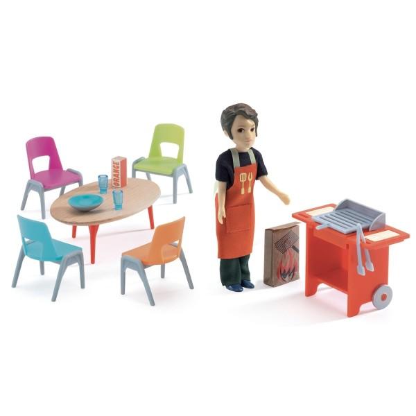 Puppenhaus: Grill und Zubehör