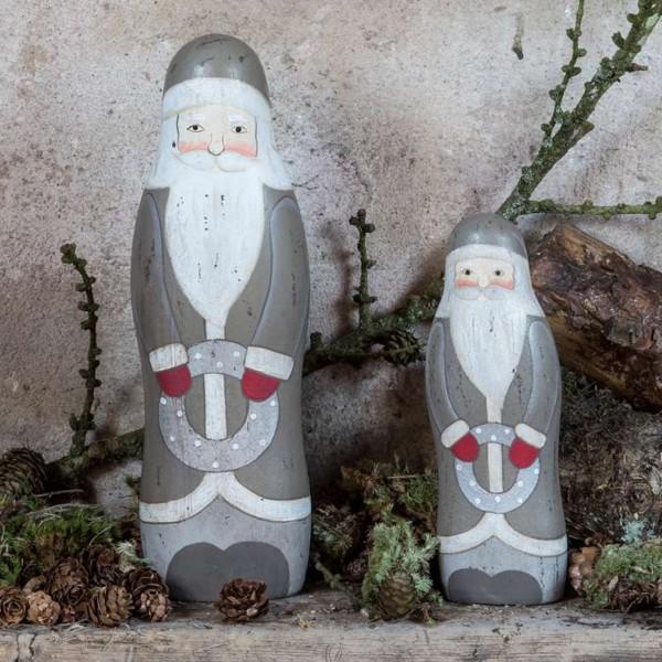 Weihnachtsmann stehend grau s