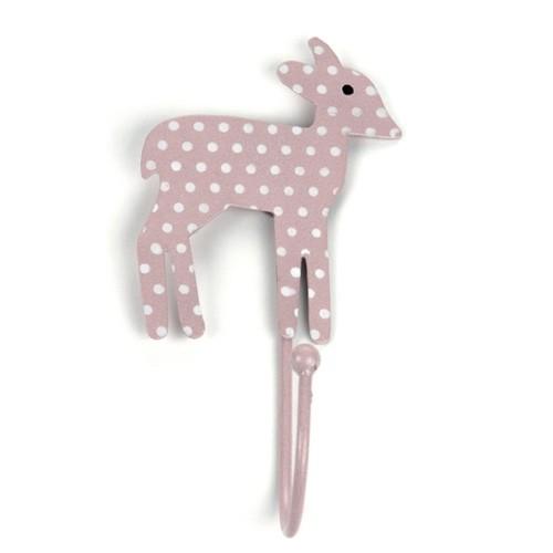 Garderobenhaken Bambi, rosé gepunktet