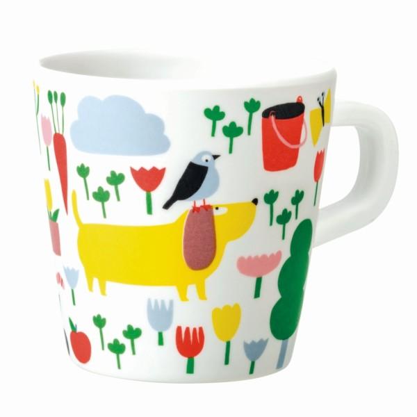 Melamin - Tasse Auf dem Land