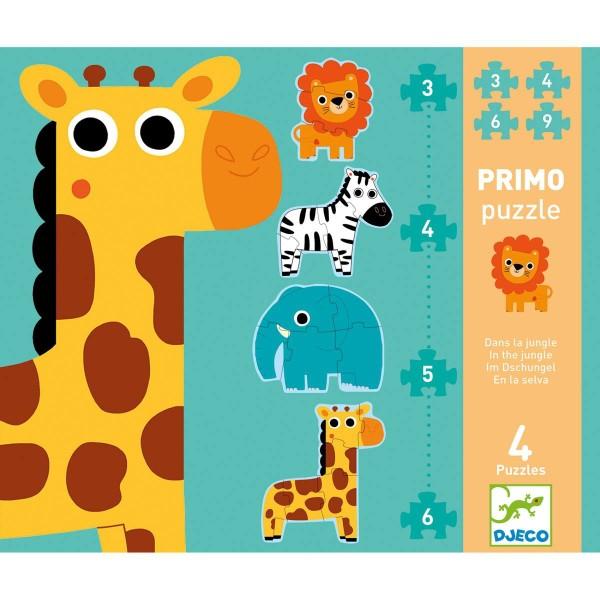Puzzle Dschungel - 3, 4, 5, 6 Teile