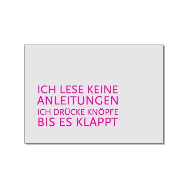 Postkarte quer, Anleitungen