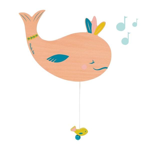 Wand-Spieluhr Wal