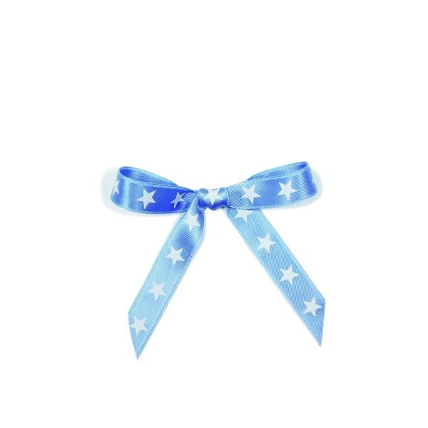Schleifenband Sterne hellblau