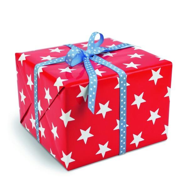 Geschenkpapier Sterne Rot