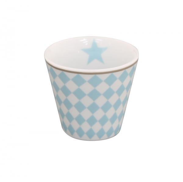Krasilnikoff Espresso Tasse Harlekin blau