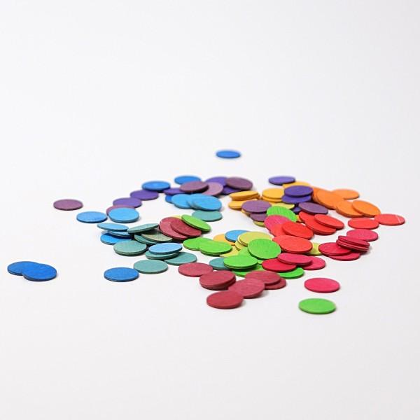 Konfettitaler Regenbogen